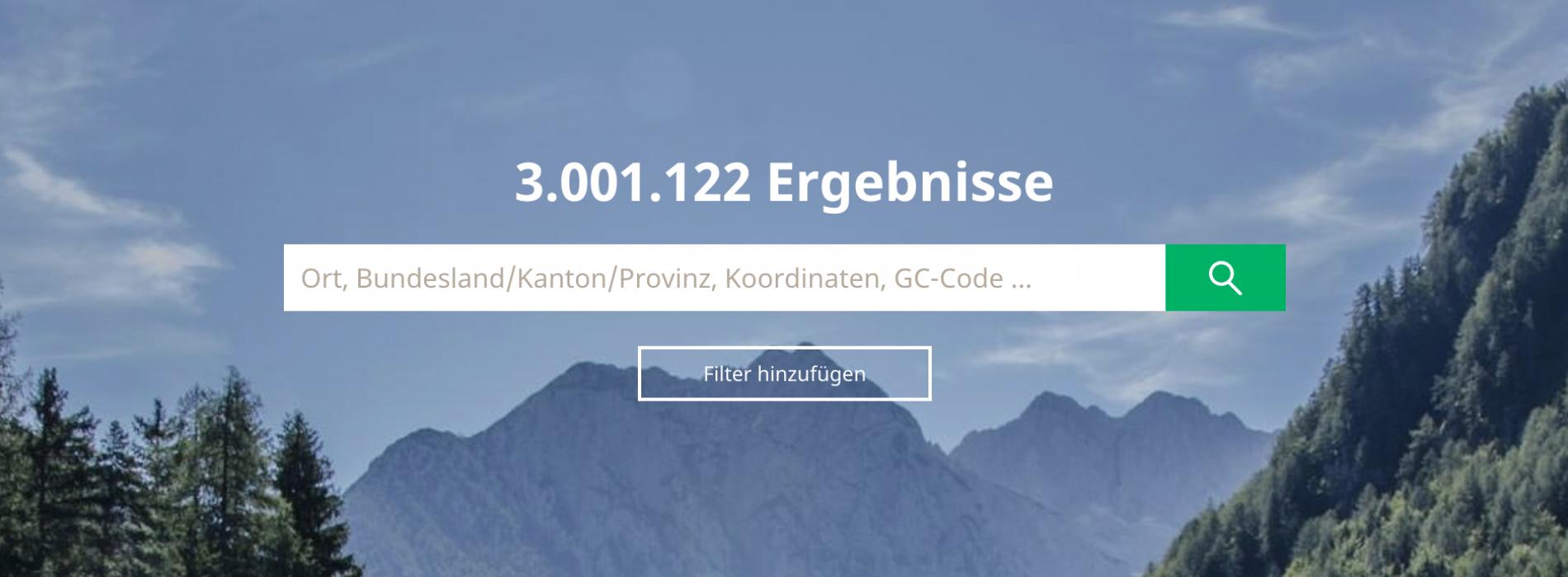 Wer cached wo? Glückwunsch zum 3 Millionsten Geocache weltweit!