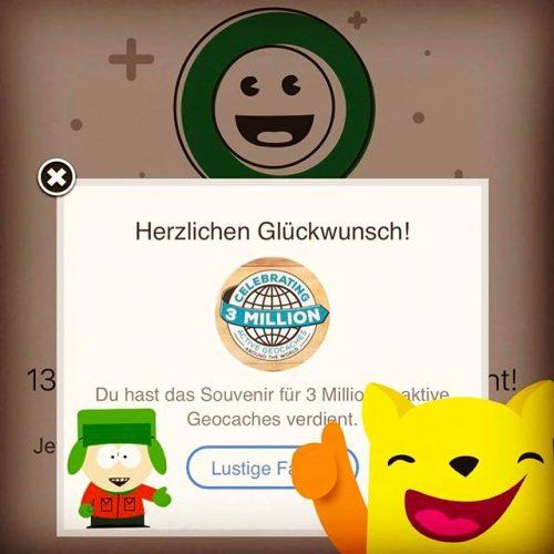 """Ein neues Souvenir """"geerntet"""" geocaching souvenir 3MioGeocaches gc"""